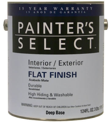 Acrylic Latex Paint, Flat Deep Base, 1-Gal.