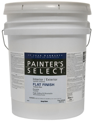 Acrylic Latex Paint, Semi-Gloss Deep Base, 5-Gal.