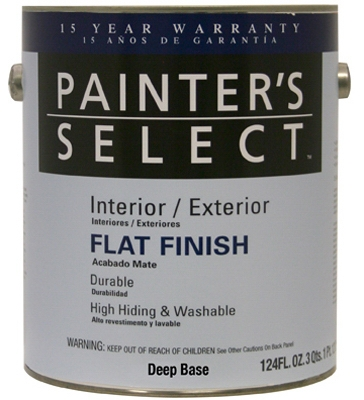 Acrylic Latex Paint, Interior/Exterior, Deep Base Semi-Gloss, 1-Gal.