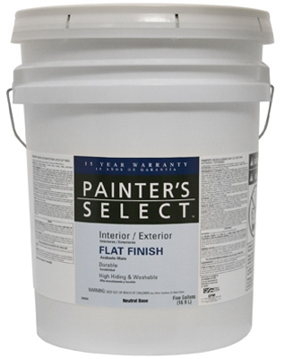 Acrylic Latex Paint, Semi-Gloss Neutral Base, 5-Gal.
