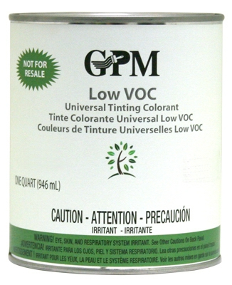 Tinting Colorant, Low VOC, Lamp Black, 1-Qt.