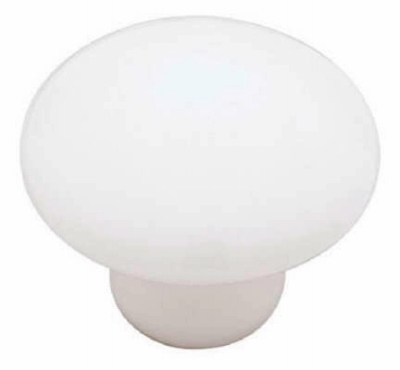 1-3/8-In. White Ceramic Round Cabinet Knob