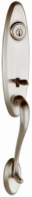Wellington Handleset, With Smartkey, Less Interior Lever, Satin Nickel