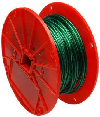 Green Vinyl Galvanzied Cable, 1x7, 1/16-In. x 250-Ft..