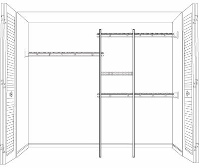 5 to 8-Ft. Shelf & Rod Closet Organizer Kit