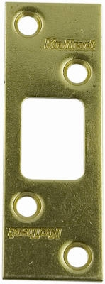 1/4-Inch Brass Maximum Security Deadbolt Strike