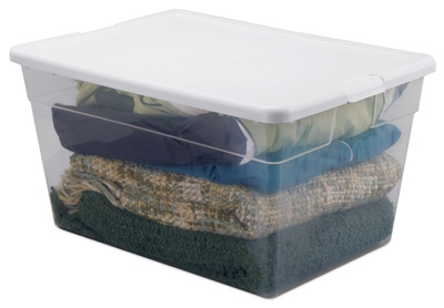 Storage Box, Clear, 56-Qt., Must Purchase in Quantities of 8