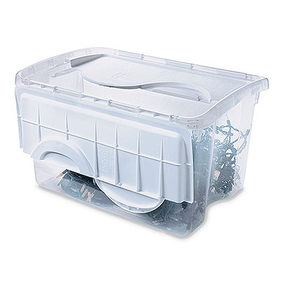 Storage Box, Hinged Lid, 48-Qt., Must Order in Quantities of 6