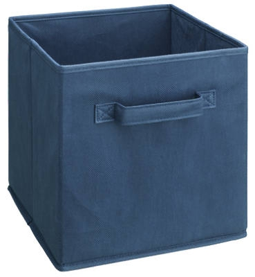 Navy Blue Woven Fabric Drawer