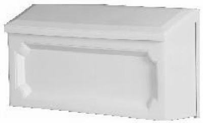 Windsor Wall Mailbox, Horizontal, White Resin, 7.75 x 15 x 4-In.