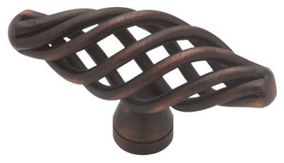 Cabinet Knob, Oval Birdcage, Bronze & Copper