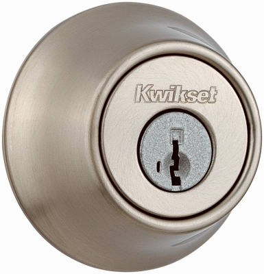 Satin Nickel Single-Cylinder Deadbolt With SmartKey