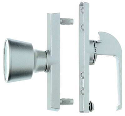 Universal White Tulip Knob Latch