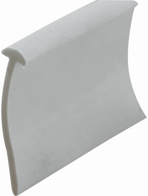 36-Inch x 13/16-Inch Gray Vinyl Shower Door Bottom Seal