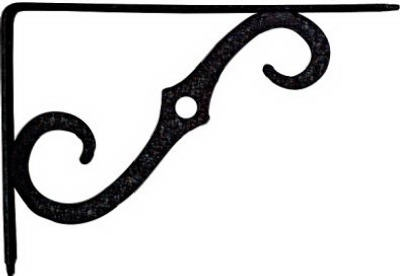 8 x 5.5-Inch Antique Black Shelf Bracket