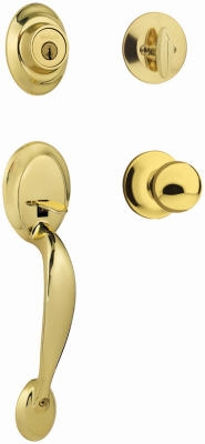 Polished-Brass Dakota Entry Handleset