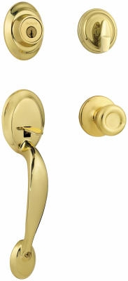 Polished-Brass Dakota Handleset