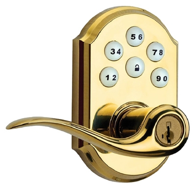 Tustin Entry Lever Locket, With Smartkey & Smartcode Keypad, Brass