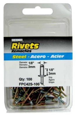 100-Pack Short Steel Rivets