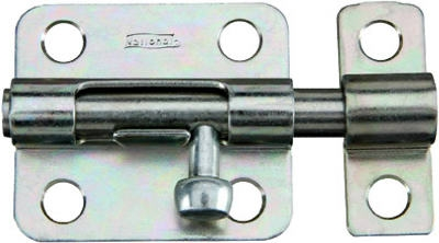 Door Barrel Bolt, Stainless Steel, 4-In.