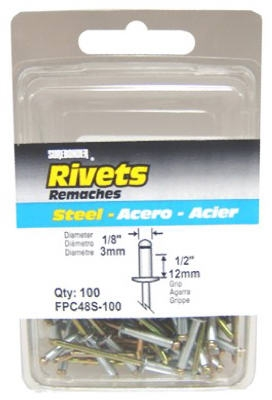 100-Pack Long Steel Rivets