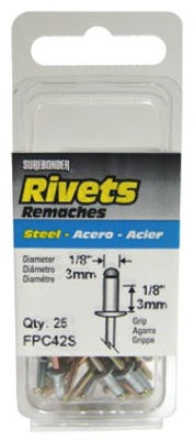 25-Pack Short Steel Rivet
