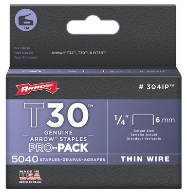 Tacker Wire Staples, 1/4-In., 5000-Pk.