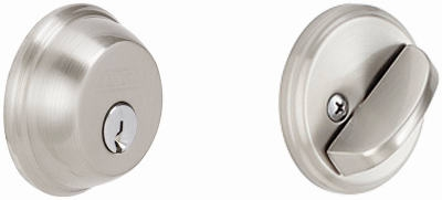 Satin Nickel  Single-Cylinder Deadbolt