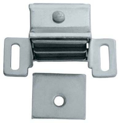 Cabinet Catch, Magnetic, Aluminum, 2-Pk.