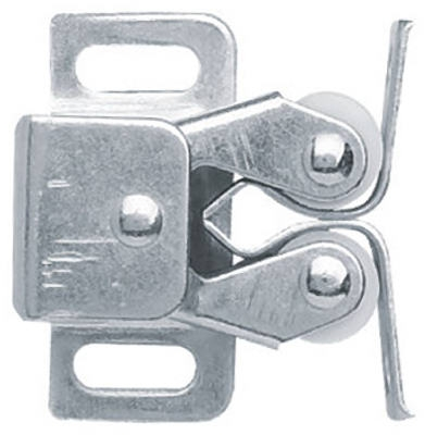 Cabinet Catch, Double Roller With Spear Strike, Zinc-Plated, 2-Pk.
