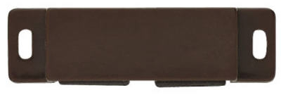 Cabinet Catch With Strike, Double Magnetic, Brown, 2-Pk.