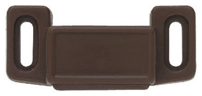 Cabinet Catch With Strike, Magnetic, Brown, 2-Pk.