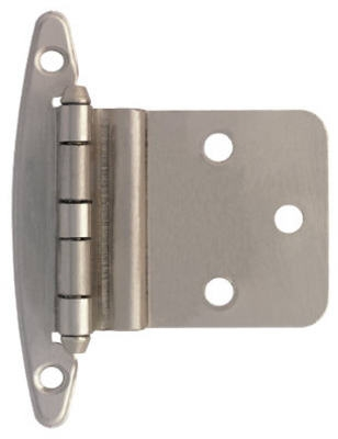 Satin Nickel Inset Hinge Without Spring, 2-Pk.
