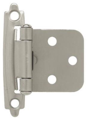 Satin Nickel Self-Closing Overlay Hinges, 10-Pk.