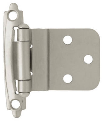 Satin Nickel Self-Closing Inset Hinges, 2-Pk.