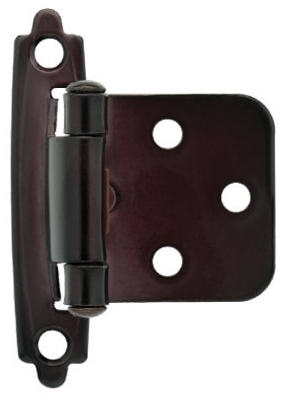 Oil-Rubbed Bronze Self-Closing Overlay Hinges, 2-Pk.