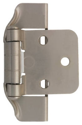 1/2-In. Satin Nickel Semi-Wrap Overlay Hinges, 2-Pk.