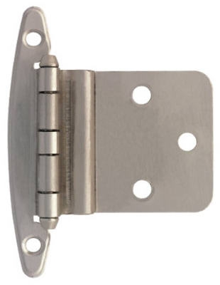 Satin Nickel Inset Hinges Without Spring, 10-Pk.
