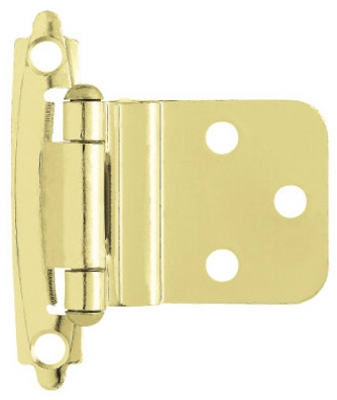 Polished Brass Self-Closing Inset Hinges, 2-Pk.