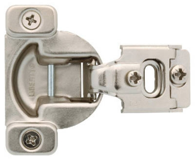 Nickel Plated Partial Overlay Hinges, 2-Pk.