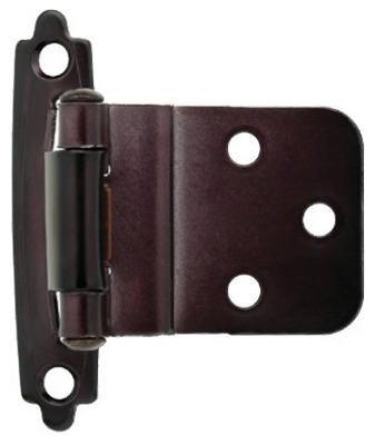 Oil Rubbed Bronze Self-Closing Inset Hinges, 2-Pk.