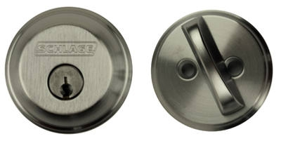 Single Cylinder Deadbolt, Satin Chrome