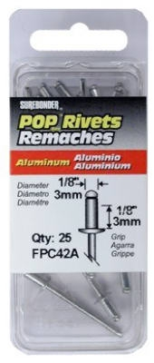 25-Pack Short Aluminum Rivet