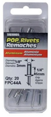 20-Pack Medium Aluminum Rivet