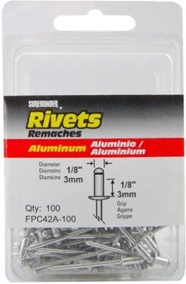 100-Pack Short Aluminum Rivets