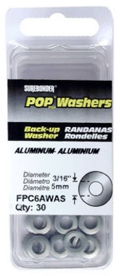 Back-Up Plate for 3/16-In. Diameter Rivet, Aluminum, 30-Pk.