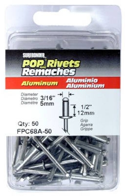 50-Pack Long Aluminum Rivets