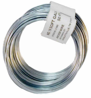 12.5-Gauge Galvanized Smooth Wire, 330-Ft.