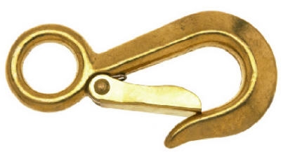 Rigid Eye Snap Hook, Bronze, 3/4-In.
