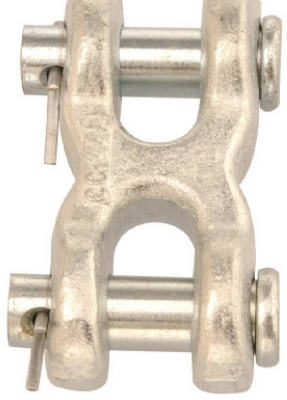 7/16-In. Blue-Krome Double Clevis